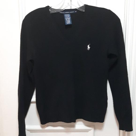 2 for 30!🛍️ Ralph Lauren black sweater white logo